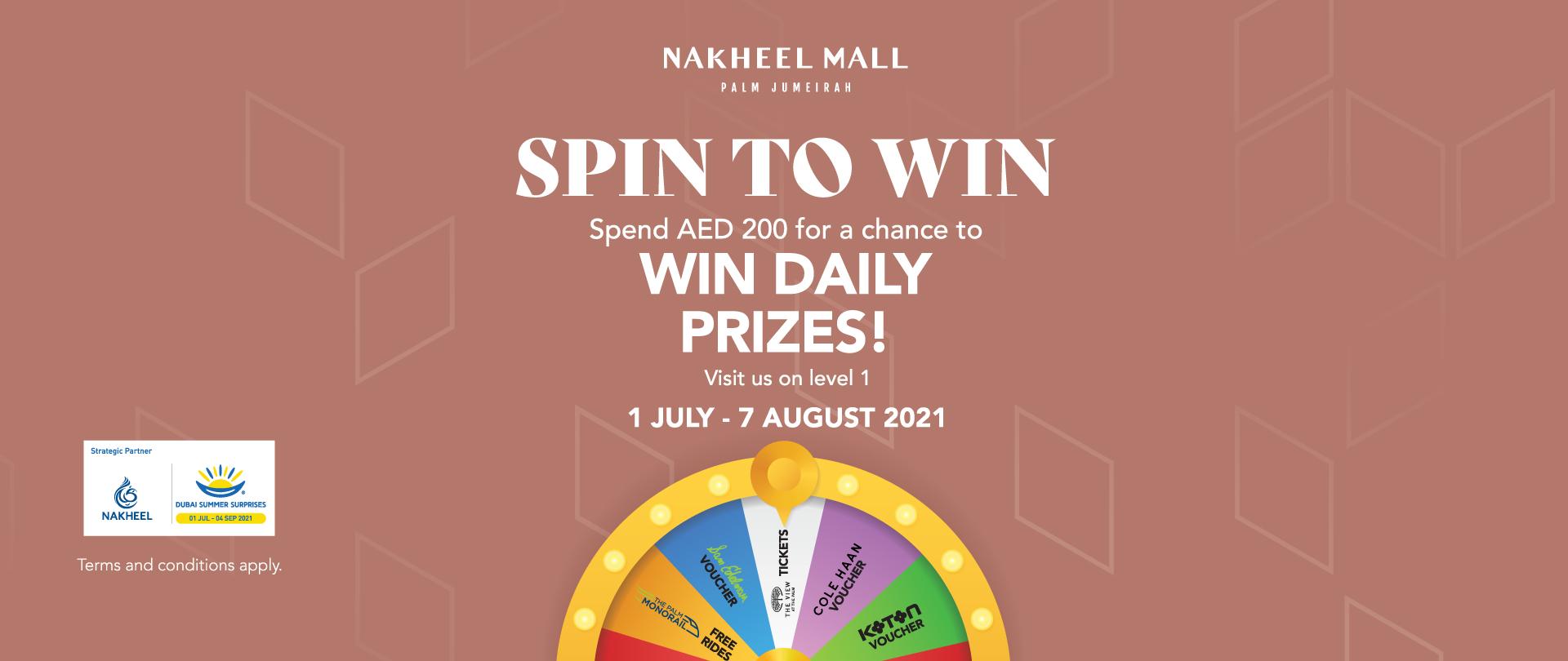 Spin to Win with Nakheel Mall Dubai Summer Surprises